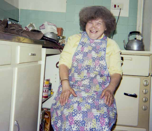 Grandparent with big hair