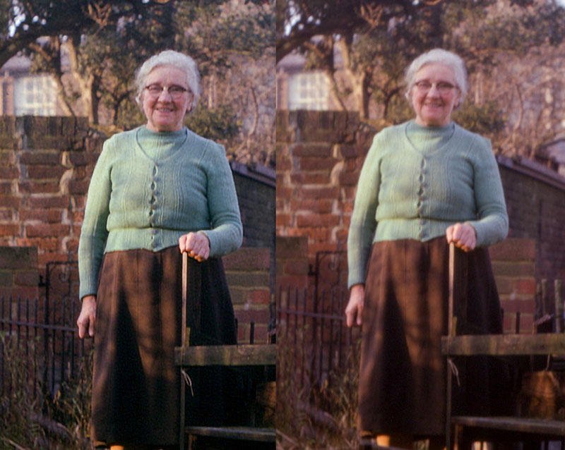 Great Grandma with camera shake
